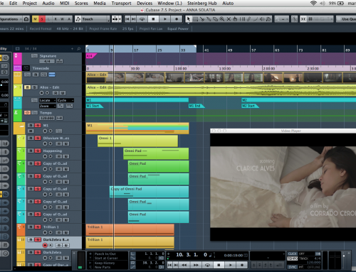 Begin to scoring a new work: a short movie by Corrado Ceron