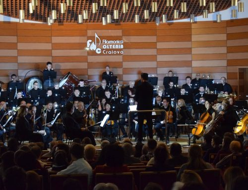 "The Oltenia Craiova Philharmonic Orchestra performs ""Please Wait … I am Tuning"" a short symphonic rhapsody suite for the orchestra tuning"